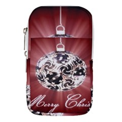 Merry Christmas Ornamental Waist Pouch (large)