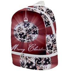 Merry Christmas Ornamental Zip Bottom Backpack by christmastore