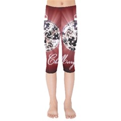 Merry Christmas Ornamental Kids  Capri Leggings  by christmastore