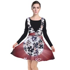 Merry Christmas Ornamental Plunge Pinafore Dress