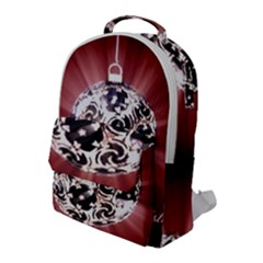 Merry Christmas Ornamental Flap Pocket Backpack (large)