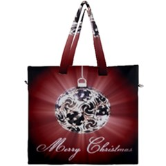 Merry Christmas Ornamental Canvas Travel Bag by christmastore