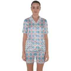 Df Perpetuum Satin Short Sleeve Pyjamas Set by deformigo