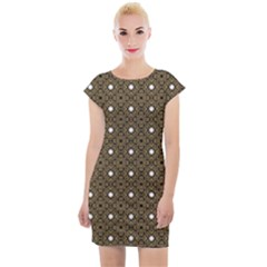 Df Found Ancestors Cap Sleeve Bodycon Dress by deformigo