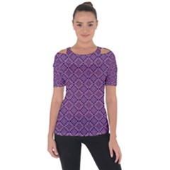 Df Vibrant Therapy Shoulder Cut Out Short Sleeve Top by deformigo