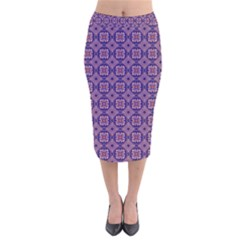 Df Matteo Di Vesta Velvet Midi Pencil Skirt by deformigo