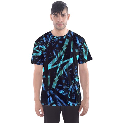 Modern Abstract Geo Print Men s Sports Mesh Tee by dflcprintsclothing