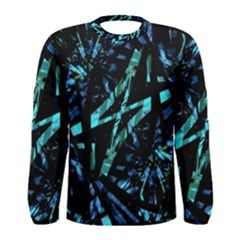 Modern Abstract Geo Print Men s Long Sleeve Tee by dflcprintsclothing
