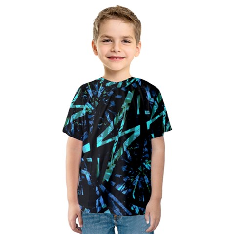 Modern Abstract Geo Print Kids  Sport Mesh Tee by dflcprintsclothing