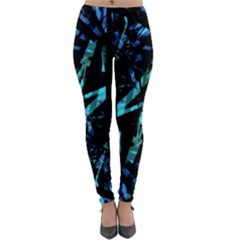 Modern Abstract Geo Print Lightweight Velour Leggings by dflcprintsclothing