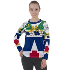 Coat Of Arms Of United States Army 111th Medical Battalion Women s Long Sleeve Raglan Tee