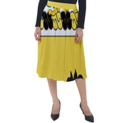 Coat Of Arms Of United States Army 112th Cavalry Regiment Classic Velour Midi Skirt