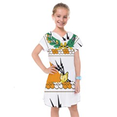 Coat Of Arms Of United States Army 136th Signal Battalion Kids  Drop Waist Dress