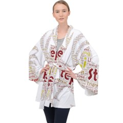 Fighting Golden Rooster  Long Sleeve Velvet Kimono  by Pantherworld143