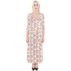 Df Giovanni Di Graziano Quarter Sleeve Wrap Maxi Dress