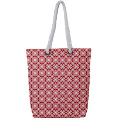 Df Persimmon Full Print Rope Handle Tote (small) by deformigo