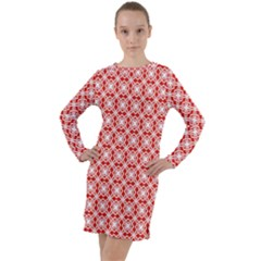 Df Persimmon Long Sleeve Hoodie Dress by deformigo