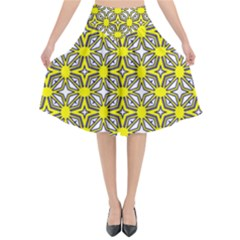 Df Fergano Flared Midi Skirt by deformigo