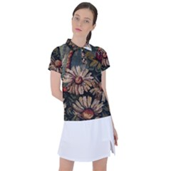 Old Embroidery 1 1 Women s Polo Tee
