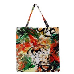 Lilies In A Vase 1 4 Grocery Tote Bag by bestdesignintheworld