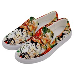 Lilies In A Vase 1 4 Men s Canvas Slip Ons by bestdesignintheworld