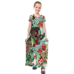Eden Garden 1 4 Kids  Short Sleeve Maxi Dress by bestdesignintheworld