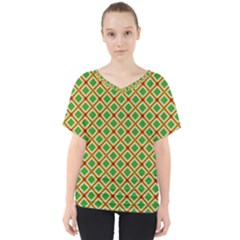 Df Irish Wish V-neck Dolman Drape Top by deformigo