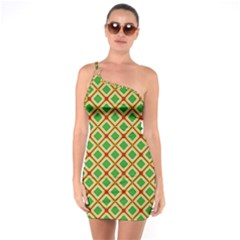 Df Irish Wish One Soulder Bodycon Dress by deformigo