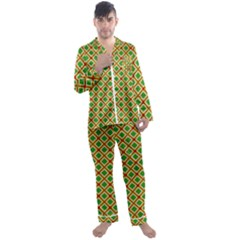 Df Irish Wish Men s Satin Pajamas Long Pants Set by deformigo