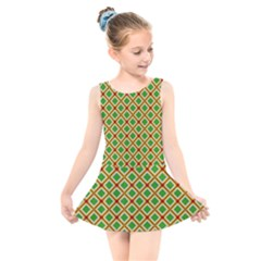 Df Irish Wish Kids  Skater Dress Swimsuit by deformigo