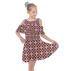 Df Molla Kids  Shoulder Cutout Chiffon Dress by deformigo
