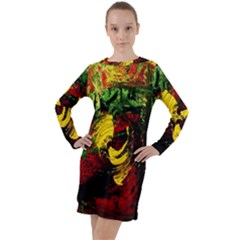 Revelation 1 3 Long Sleeve Hoodie Dress