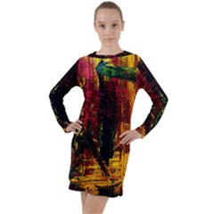 Revelation 1 9 Long Sleeve Hoodie Dress