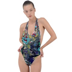 Forest 1 1 Backless Halter One Piece Swimsuit