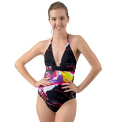 Consolation 1 1 Halter Cut-out One Piece Swimsuit