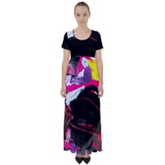 Consolation 1 1 High Waist Short Sleeve Maxi Dress