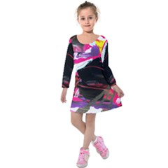 Consolation 1 1 Kids  Long Sleeve Velvet Dress