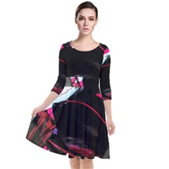 Consolation 1 1 Quarter Sleeve Waist Band Dress