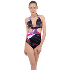 Consolation 1 1 Halter Front Plunge Swimsuit