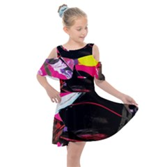 Consolation 1 1 Kids  Shoulder Cutout Chiffon Dress