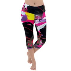 Consolation 1 1 Lightweight Velour Capri Yoga Leggings