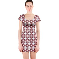 Df Cordilleri Short Sleeve Bodycon Dress by deformigo