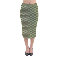 Df Lanika Velvet Midi Pencil Skirt by deformigo