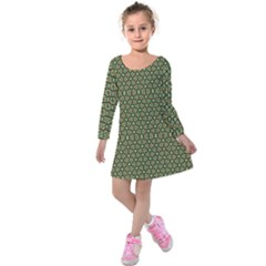 Df Lanika Kids  Long Sleeve Velvet Dress by deformigo