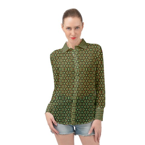 Df Lanika Long Sleeve Chiffon Shirt by deformigo
