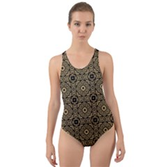 Df Tobacco Field Cut-out Back One Piece Swimsuit by deformigo