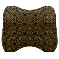 Df Tobacco Field Velour Head Support Cushion by deformigo