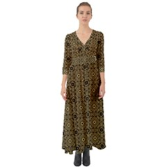 Df Tobacco Field Button Up Boho Maxi Dress by deformigo