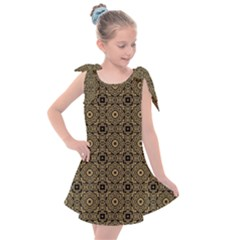 Df Tobacco Field Kids  Tie Up Tunic Dress by deformigo