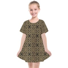 Df Tobacco Field Kids  Smock Dress by deformigo